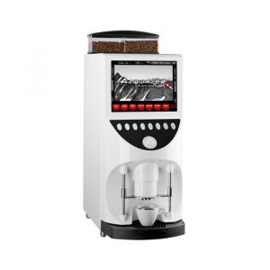 Aequator Brasil Touch bean to cup coffee machine side view white model
