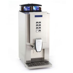 Aequator Guatemala 14 bean to cup coffee machine side view silver model