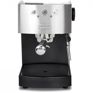 Ascaso Arc 1 Group espresso machine Front View black and silver model
