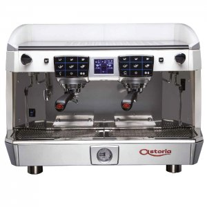 Astoria Core600 2 Group espresso machine front view chrome model