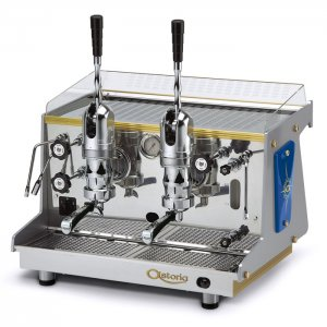 Astoria Rapallo 2 group espresso machine front view chrome model