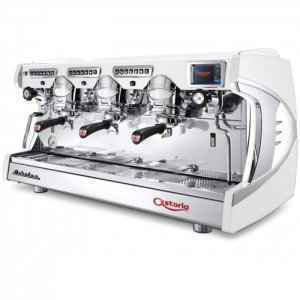 Astoria Sabrina 3 group espresso machine front view chrome model