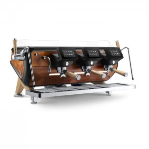 Astoria Storm 3 group espresso machine side view tan and silver model