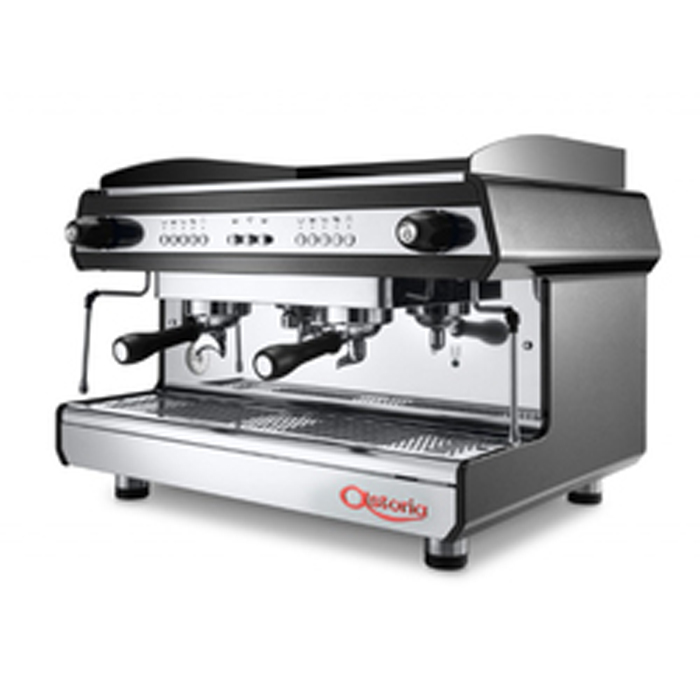 Astoria Tanya 2 Group espresso machine Side View black and silver model