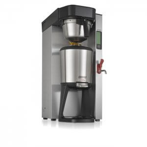 Bravilor Bonamat Aurora single high thermal brewer stainless steel and black model right side view