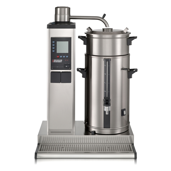 Bravilor B10 commercial thermal brewer Front View sivler model