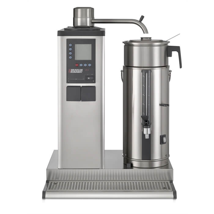 Bravilor B5 thermal brewer front view chrome