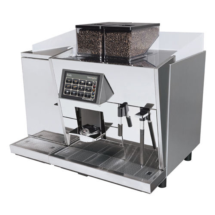 Black & White 3 CTM commercial bean to cup coffee machine side view chrome model