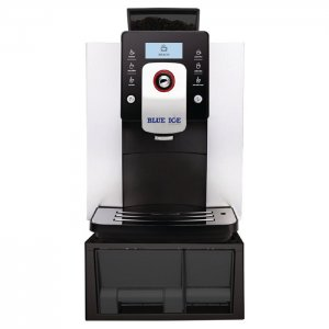 Blue Ice Azzurri Classico bean to cup coffee machine front view black model