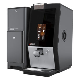 Bravilor Bonamat Esprecious bean to cup coffee machine fresh milk chiller side view black model