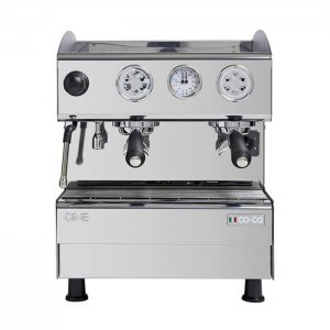 CIME CO O2 2 Group Espresso Coffee Machine Front View Silver