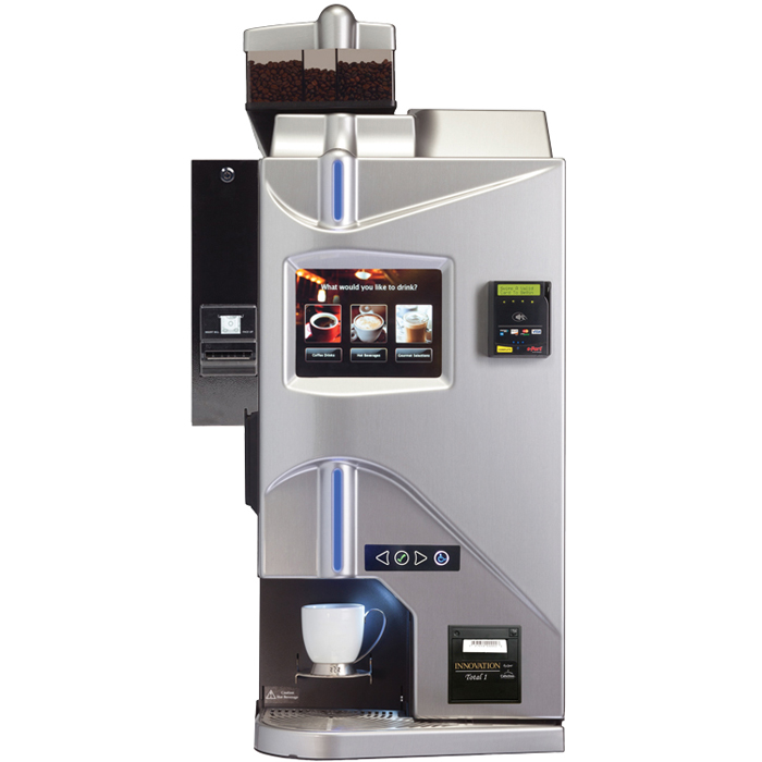 Cafection Innovation Total bean to cup coffee machine front view silver model