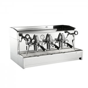 Cime CO-O6 3 group espresso machine right side view chrome model