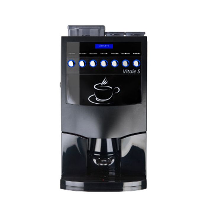 Coffetek Vitale bean to cup office coffee machine front view black model