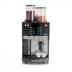 Conti TT388 bean to cup machine front view black model