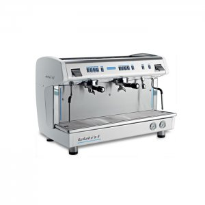 Conti X one TCI 2 group espresso machine side view chrome model