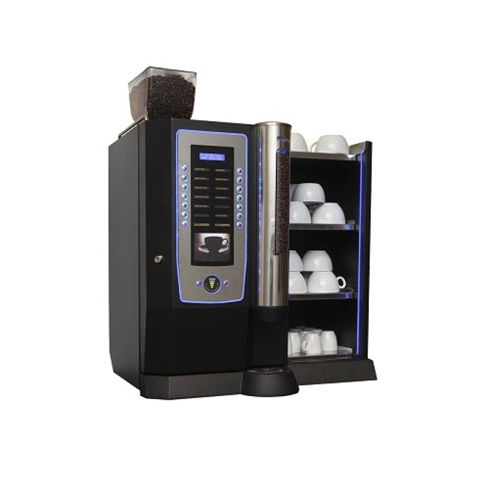 Darenth Roma bean to cup coffee machine with Cup Warmer Side View black model