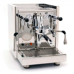 ECM Heidelberg Technika IV Profi 1 group espresso machine side view chrome model