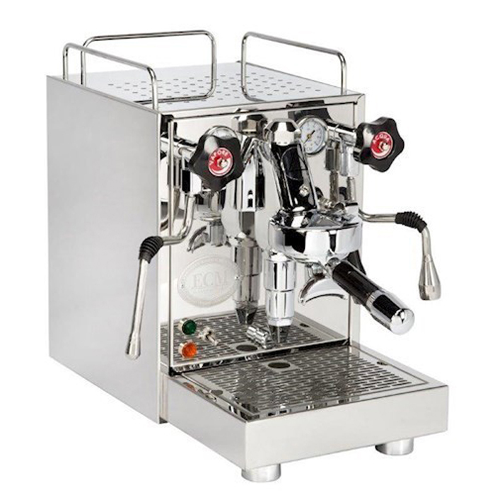 ECM Mechanika V Slim 1 group espresso machine chrome model right side view