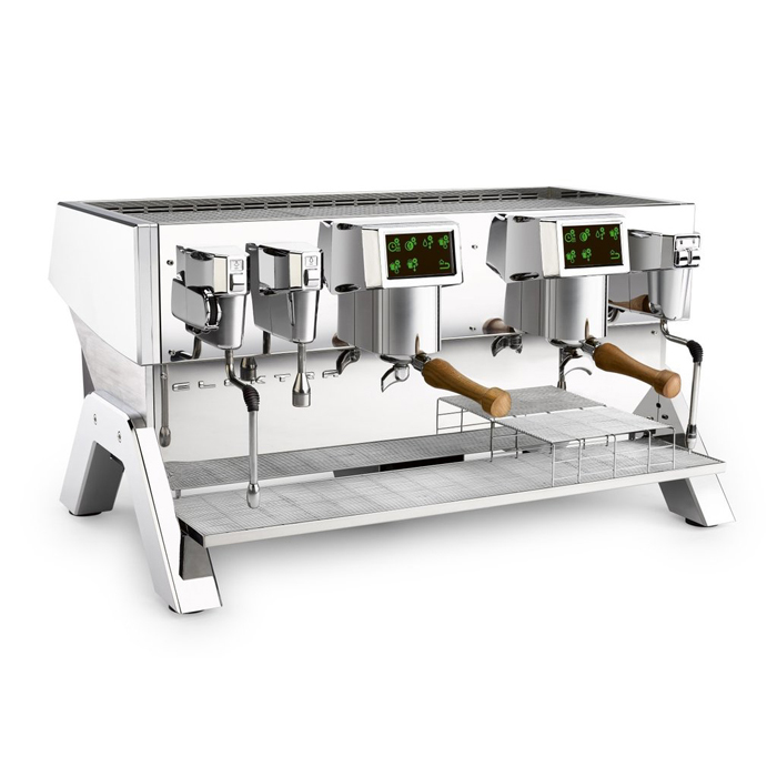 Elektra Indie 2 Group espresso machine Front Side View chrome model