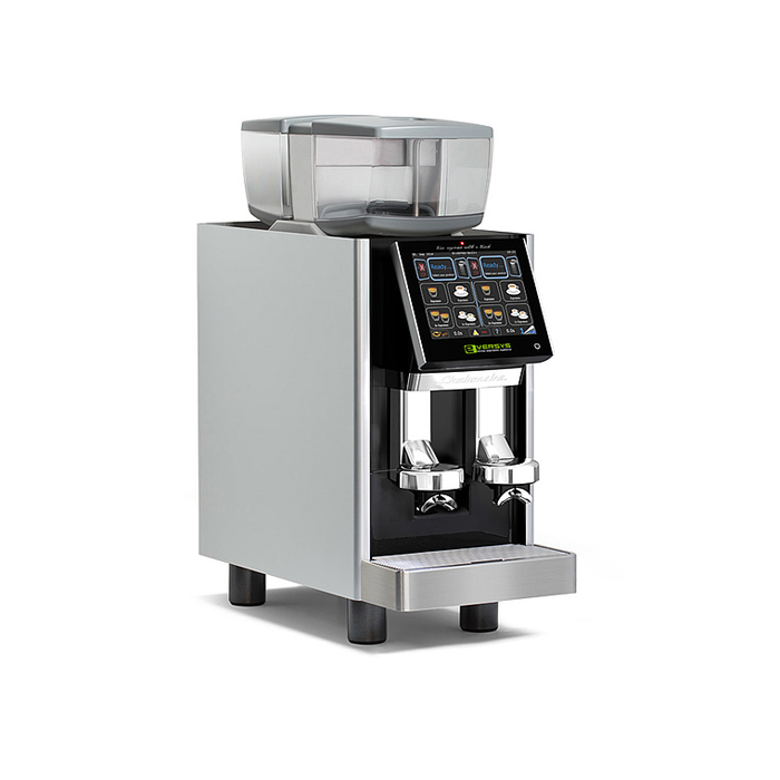Eversys Shotmaster bean to cup espresso coffee machine right side view silver model