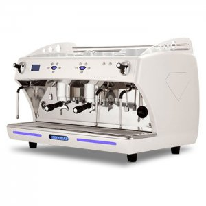 Expobar Diamant 2 group espresso machine side view white model