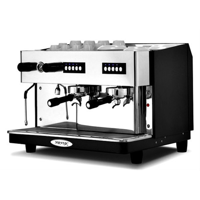 Expobar Monroc barista style coffee machine 2 group black and silver model