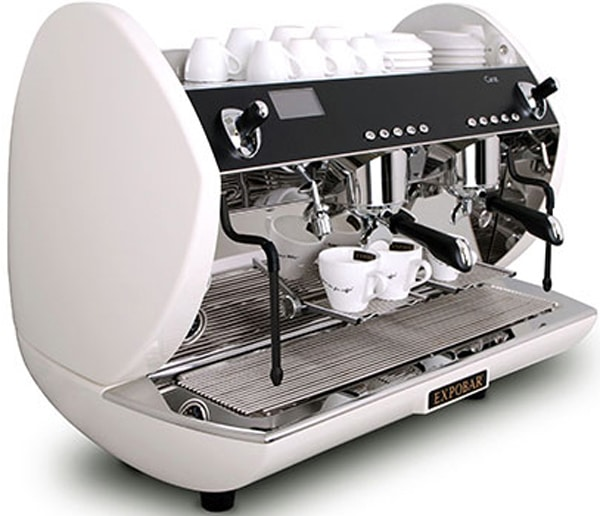 Expobar carat espresso machine side view white