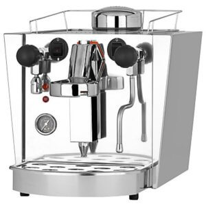 Fracino Cherub espresso and pod machine side view chrome