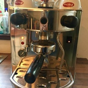 Fracino Heavenly espresso machine front view chrome