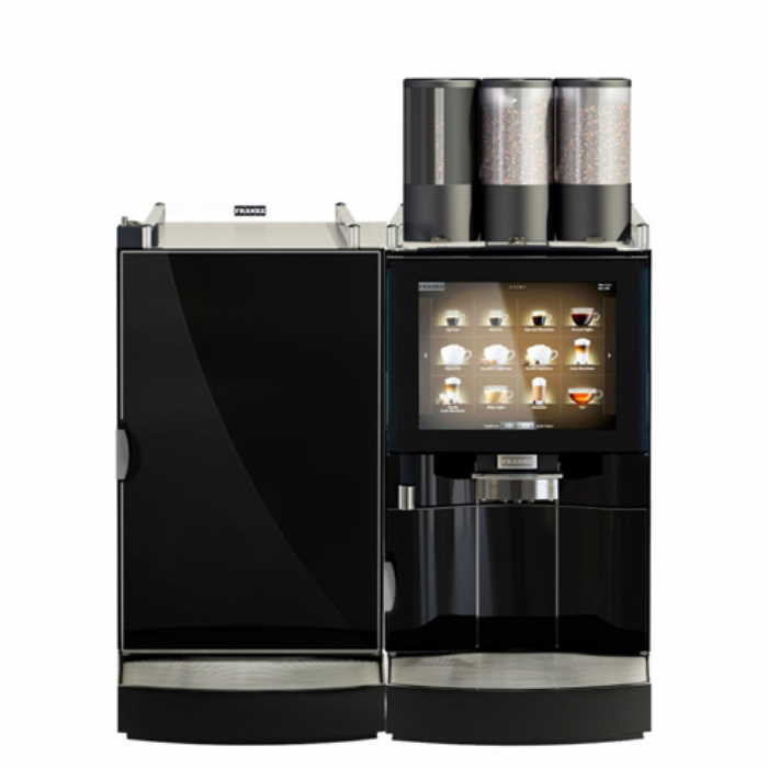 Frank FoamMaster850 bean to cup coffee machine black front view