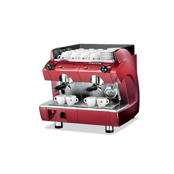 Gaggia GD Compact 2 group espresso machine side view red model