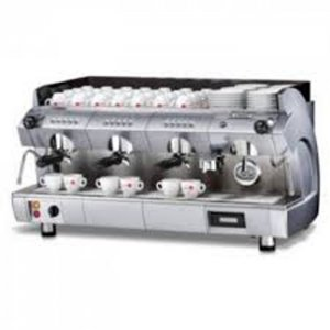 Gaggia GD Regular 3 group espreso machine side view chrome model