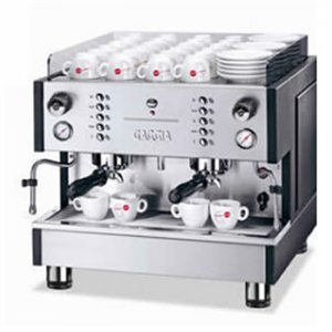 Gaggia XD Compact 2 Group espresso machine side view chrome model