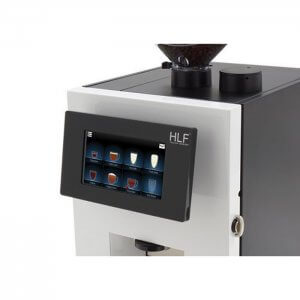 HLF 1700 bean to cup coffee machine close up display screen black and white model