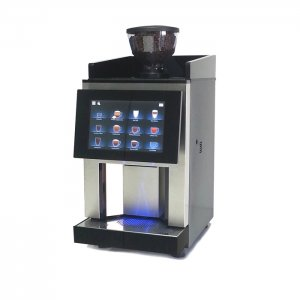 HLF 2700 bean to cup coffee machine side view black and silver model