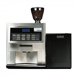 HLF 3600 bean to cup coffee machine with milk chiller front view