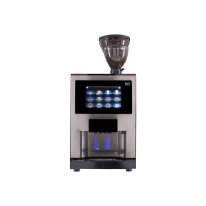 HLF 3700 bean to cup coffee machine front view silver and black model
