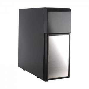 Jura 4L universal fridge silver and black side view