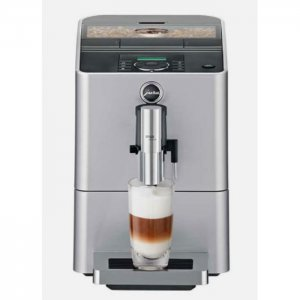 Jura ENA Micro 90 bean to cup coffee machine silver front view
