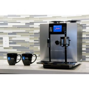 Jura Giga 5 domestic bean to cup coffee machine chrome side view