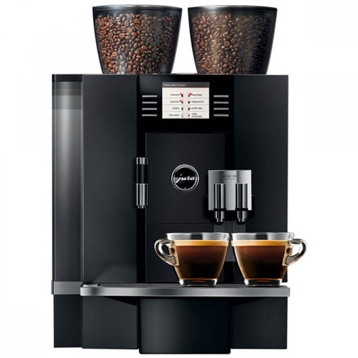 Jura Giga X8 bean to cup coffee machine front view