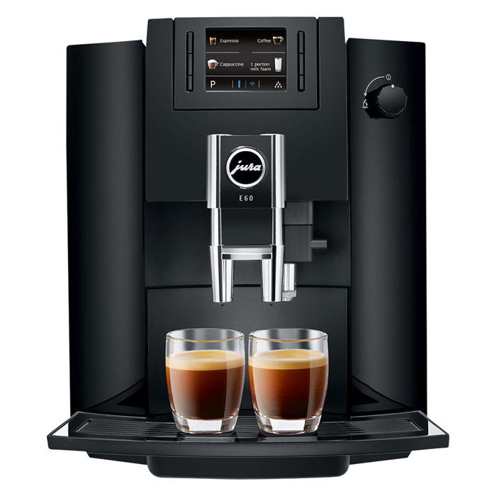 Jura Impressa E60 domestic bean to cup coffee machine piano black