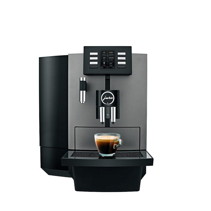 Jura JX6 bean to cup coffee machine black front view