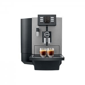 Jura X6 bean to cup coffee machine front view