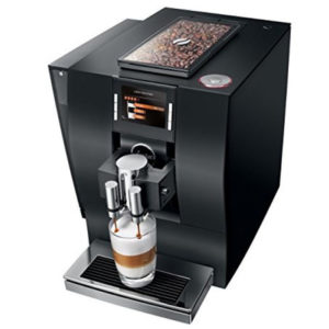 Jura Z6 domestic bean to cup coffee machine black side top side view