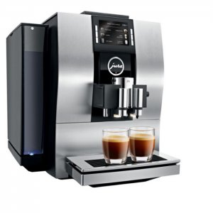 Jura Z6 domestic bean to cup coffee machine satin silver side view