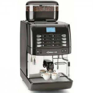 La Cimbali M1 bean to cup coffee machine side view black and silver model low res