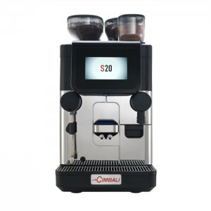 La Cimbali S20 bean to cup coffee machine front view black and silver model