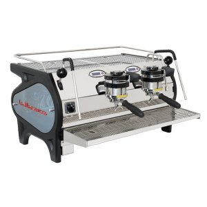 La Marzocco Strada EP 2 group espresso machine right side view chrome and black model